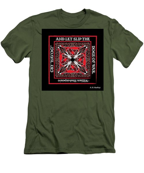 Celtic Dogs Of War Men's T-Shirt (Athletic Fit)