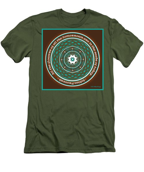 Celtic Lotus Mandala Men's T-Shirt (Athletic Fit)