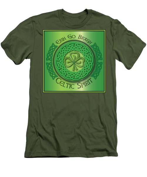 Celtic Spirit Men's T-Shirt (Slim Fit) by Ireland Calling