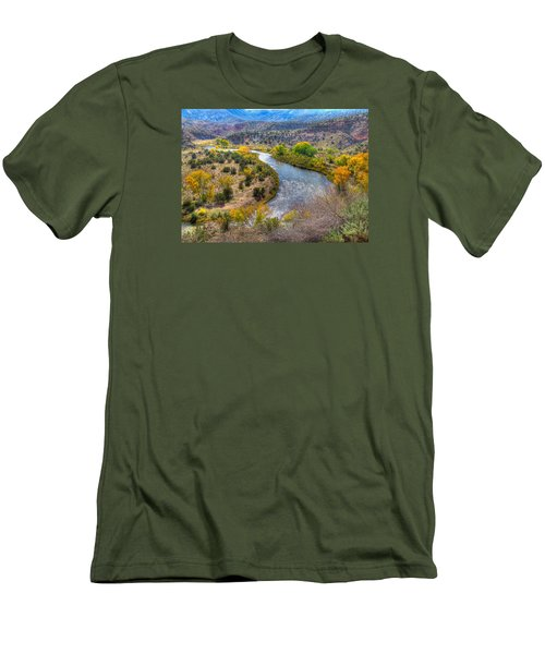 Chama River Overlook Men's T-Shirt (Slim Fit) by Alan Toepfer