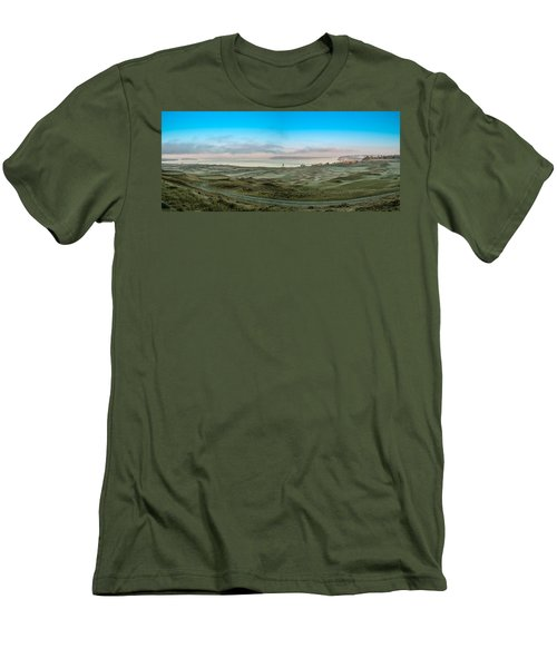 Chambers Bay Panorama Men's T-Shirt (Slim Fit) by E Faithe Lester
