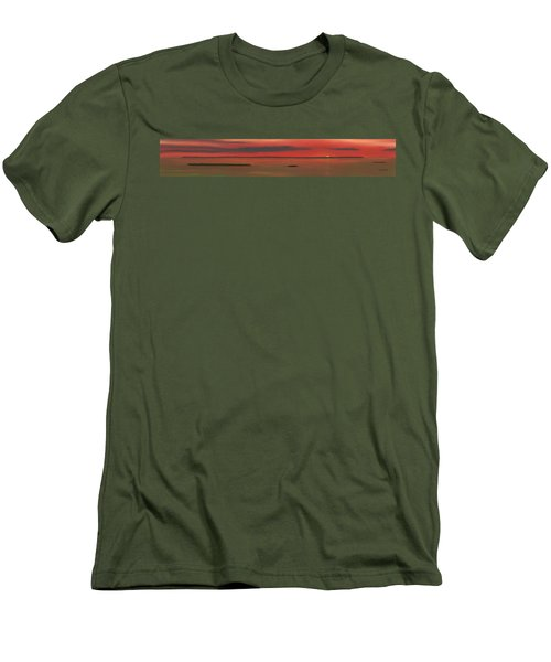 Chambers Island Sunset Men's T-Shirt (Athletic Fit)
