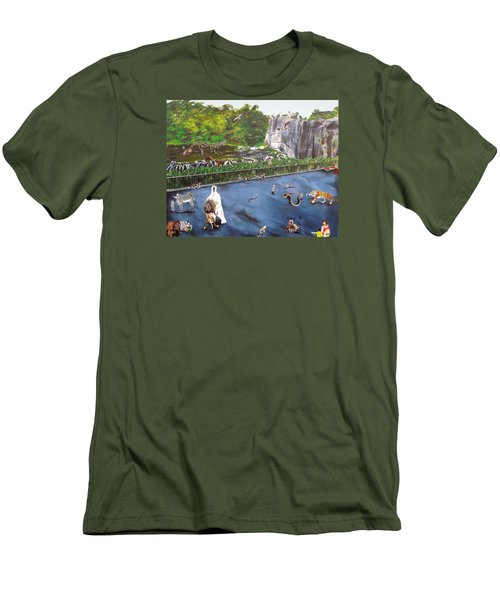 Chaos At The Garden Men's T-Shirt (Athletic Fit)
