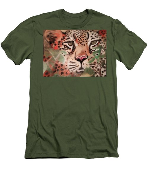 Cheetah In The Grass Men's T-Shirt (Athletic Fit)