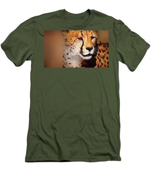 Cheetah Portrait Men's T-Shirt (Athletic Fit)