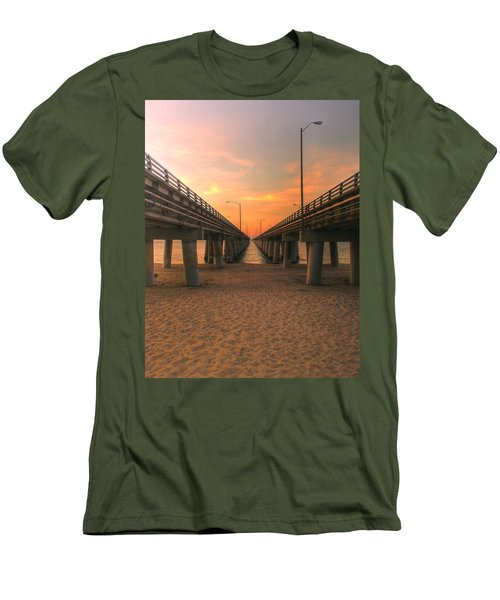 Chesapeake Bay Bridge IIi  Men's T-Shirt (Athletic Fit)