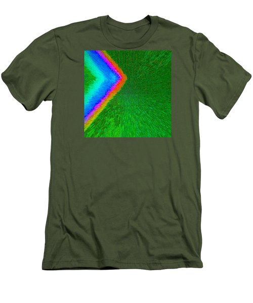 Chevron Rainbow C2014 Men's T-Shirt (Slim Fit) by Paul Ashby