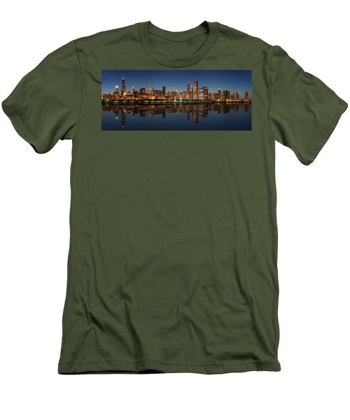 Chicago Reflected Men's T-Shirt (Slim Fit) by Semmick Photo