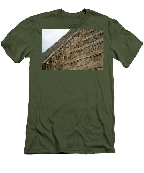 Chichen Itza Men's T-Shirt (Slim Fit) by Silvia Bruno