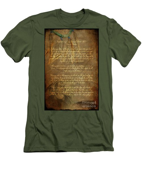 Chief Tecumseh Poem Men's T-Shirt (Athletic Fit)