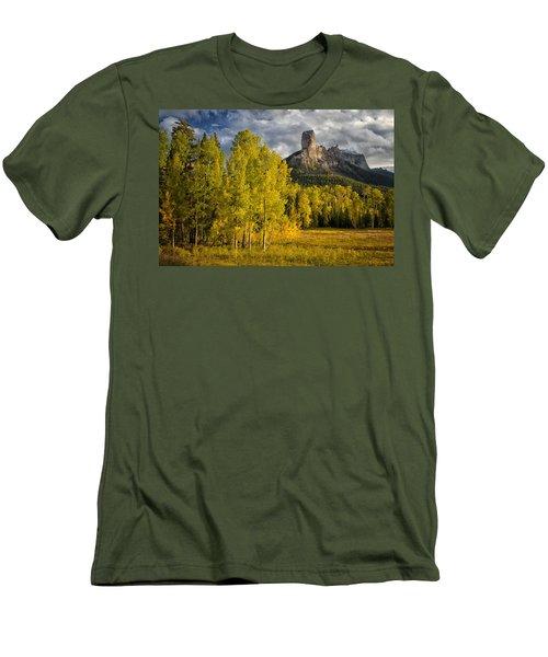 Chimney Rock San Juan Nf Colorado Img 9722 Men's T-Shirt (Slim Fit) by Greg Kluempers