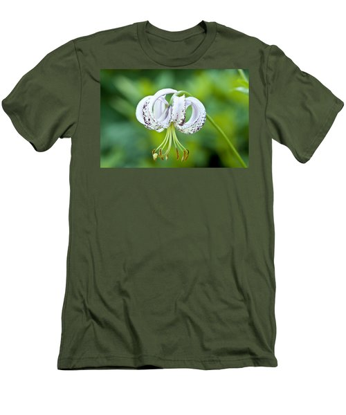 Men's T-Shirt (Slim Fit) featuring the photograph Chinese Lily by Lana Enderle