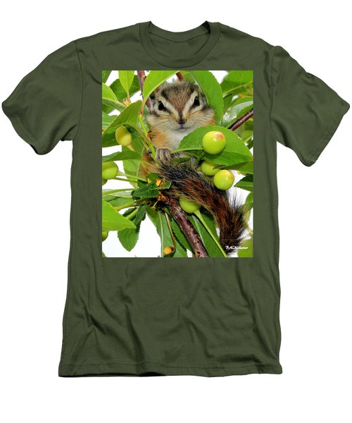 Men's T-Shirt (Slim Fit) featuring the photograph Chip Or Dale by Barbara Chichester