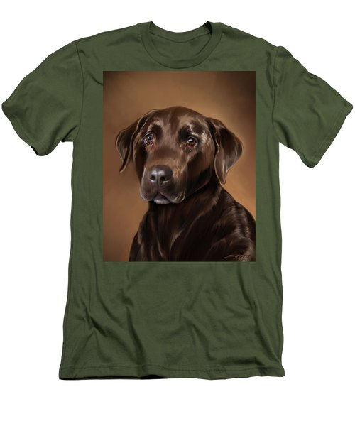 Chocolate Lab Men's T-Shirt (Slim Fit) by Michael Spano