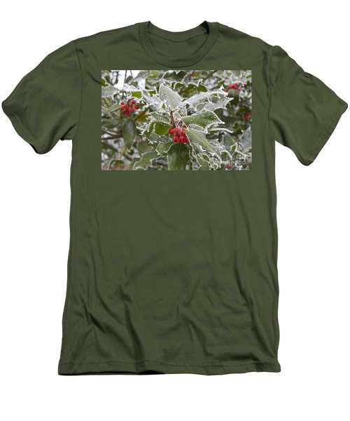 Christmas Greetings Men's T-Shirt (Slim Fit) by Felicia Tica