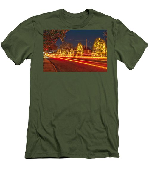 Men's T-Shirt (Slim Fit) featuring the photograph Christmas Town Usa by Alex Grichenko