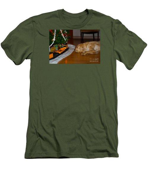 Christmas Train Men's T-Shirt (Athletic Fit)