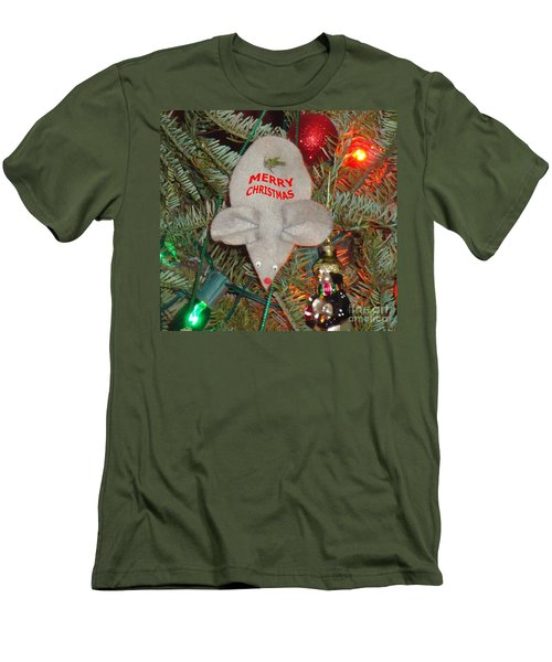 Men's T-Shirt (Slim Fit) featuring the photograph Christmas Tree Mouse by Joseph Baril