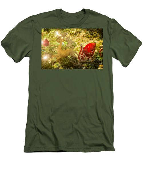 Men's T-Shirt (Slim Fit) featuring the photograph Christmas Tree Ornaments by Alex Grichenko