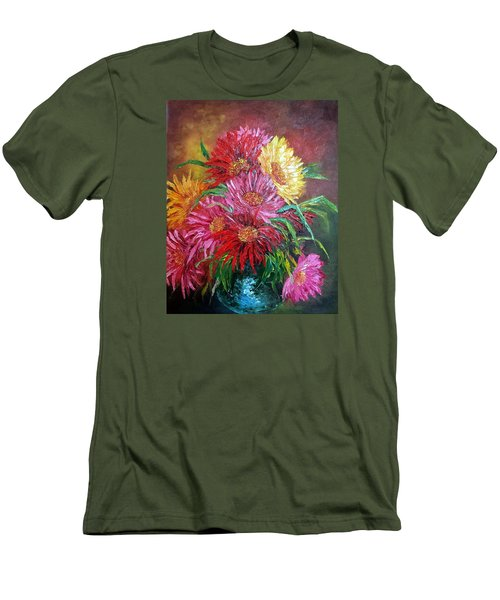 Chrysanthemum Men's T-Shirt (Slim Fit) by Katia Aho