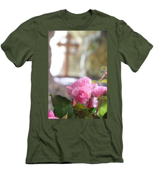 Men's T-Shirt (Slim Fit) featuring the photograph Church Flowers by Jeremy Voisey