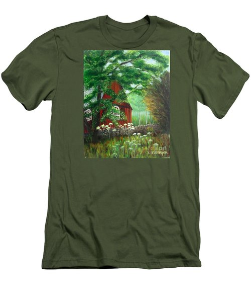 Church In The Glen Men's T-Shirt (Slim Fit) by Laurie Morgan