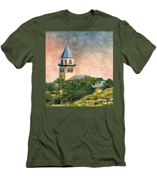 Church On Hill Men's T-Shirt (Slim Fit) by Janette Boyd