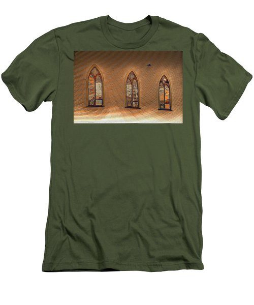 Church Windows Men's T-Shirt (Athletic Fit)