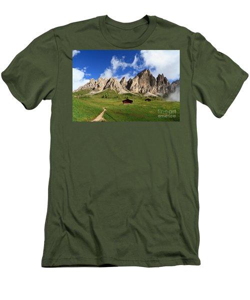 Men's T-Shirt (Slim Fit) featuring the photograph Cir Group - Gardena Pass by Antonio Scarpi