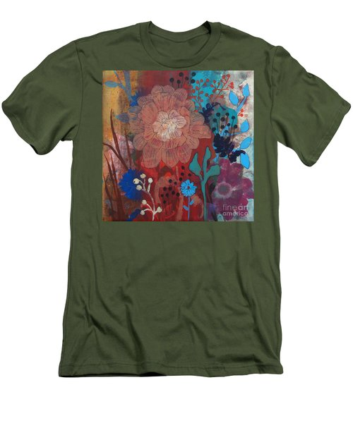 Men's T-Shirt (Slim Fit) featuring the painting Clarity by Robin Maria Pedrero