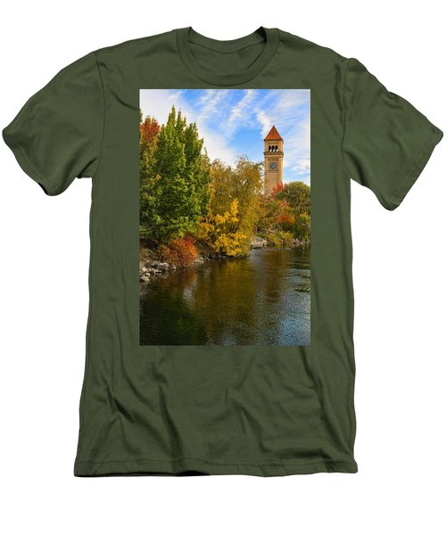 Clocktower In Fall Men's T-Shirt (Athletic Fit)