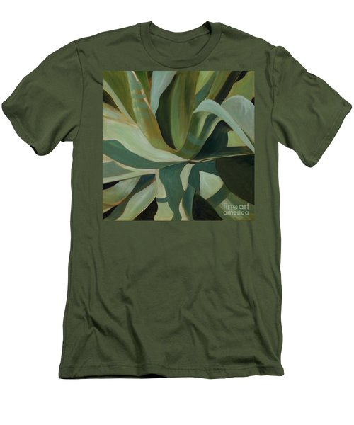 Close Cactus Men's T-Shirt (Slim Fit) by Debbie Hart