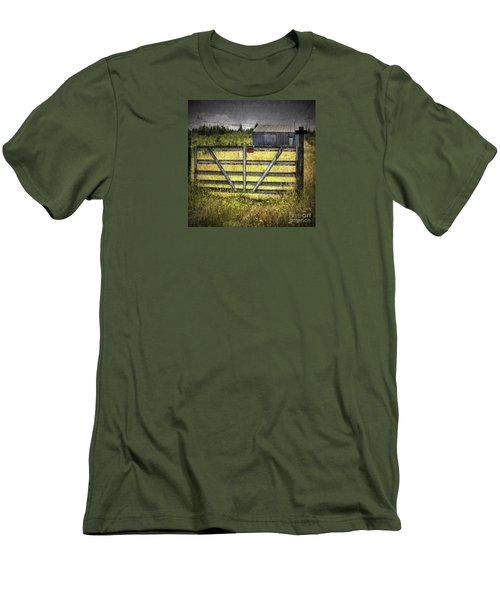 Men's T-Shirt (Slim Fit) featuring the photograph Closed Down by Jean OKeeffe Macro Abundance Art