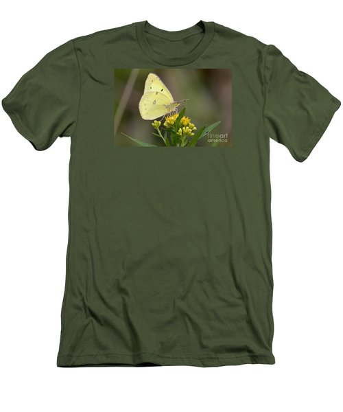 Men's T-Shirt (Slim Fit) featuring the photograph Clouded Sulphur by Randy Bodkins