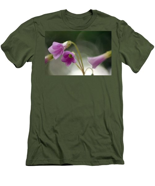Men's T-Shirt (Slim Fit) featuring the photograph Clover Bells by Greg Allore