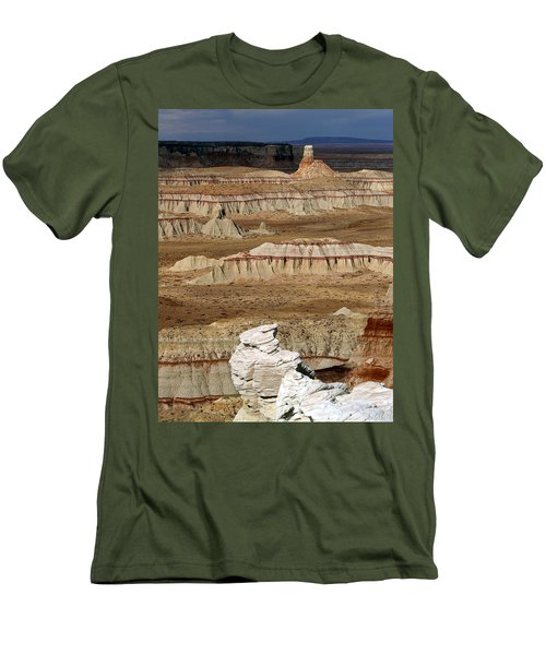 Coal Mine Mesa 19 Men's T-Shirt (Slim Fit) by Jeff Brunton