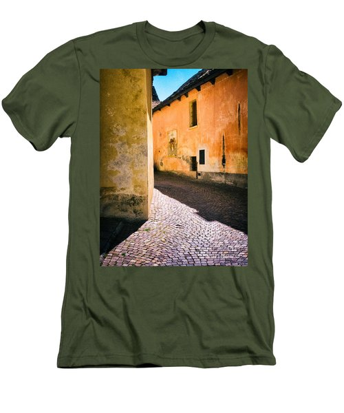Men's T-Shirt (Slim Fit) featuring the photograph Cobbled Street by Silvia Ganora
