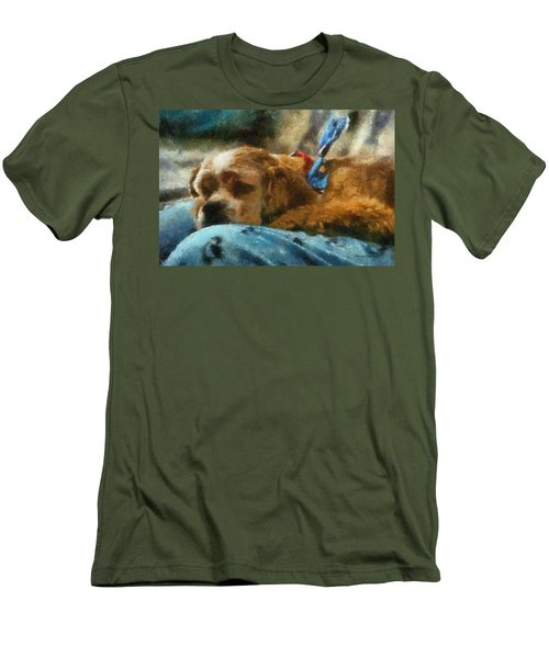 Cocker Spaniel Photo Art 07 Men's T-Shirt (Athletic Fit)
