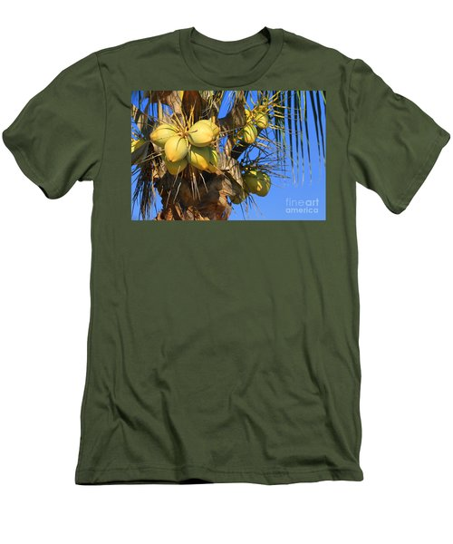 Men's T-Shirt (Slim Fit) featuring the photograph Coconut 2 by Teresa Zieba