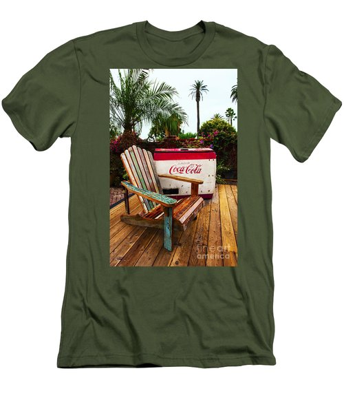 Vintage Coke Machine With Adirondack Chair Men's T-Shirt (Athletic Fit)