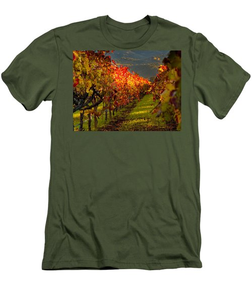 Color On The Vine Men's T-Shirt (Slim Fit) by Bill Gallagher