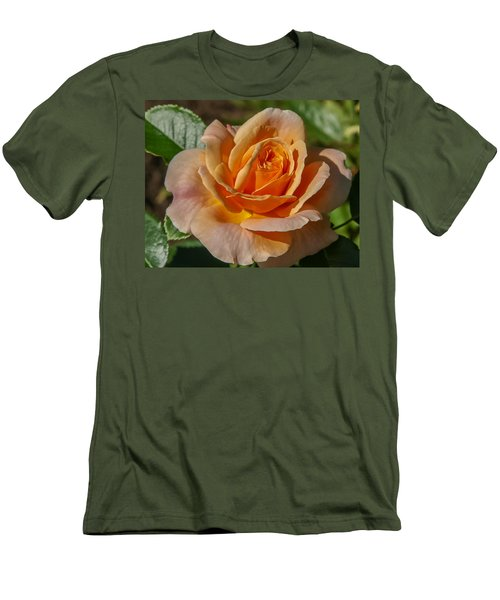 Colorful Rose Men's T-Shirt (Athletic Fit)