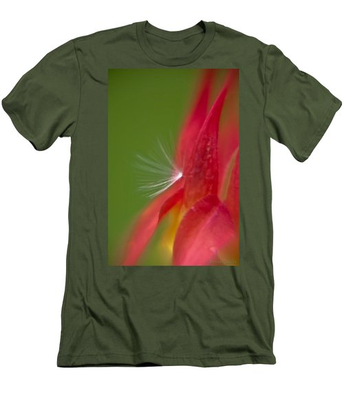 Men's T-Shirt (Slim Fit) featuring the photograph Columbine Fairy by Brenda Jacobs