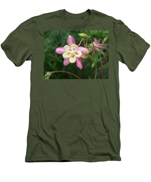 Men's T-Shirt (Slim Fit) featuring the photograph Columbine by Kathryn Meyer