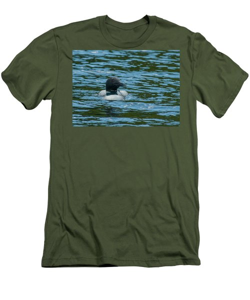 Men's T-Shirt (Slim Fit) featuring the photograph Common Loon by Brenda Jacobs
