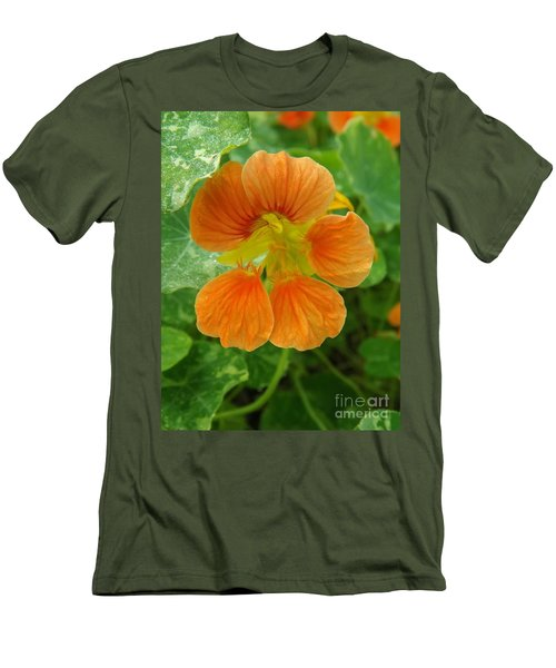 Common Nasturtium Men's T-Shirt (Slim Fit) by Sara  Raber