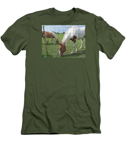 Men's T-Shirt (Slim Fit) featuring the photograph Company Of Two by Tina M Wenger