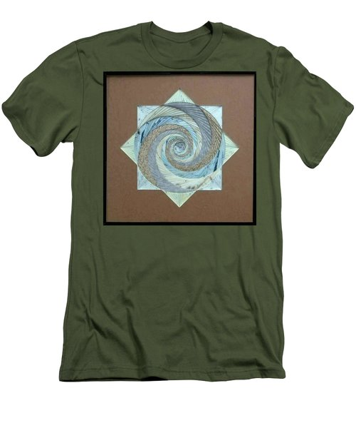 Men's T-Shirt (Slim Fit) featuring the mixed media Compass Headings by Ron Davidson