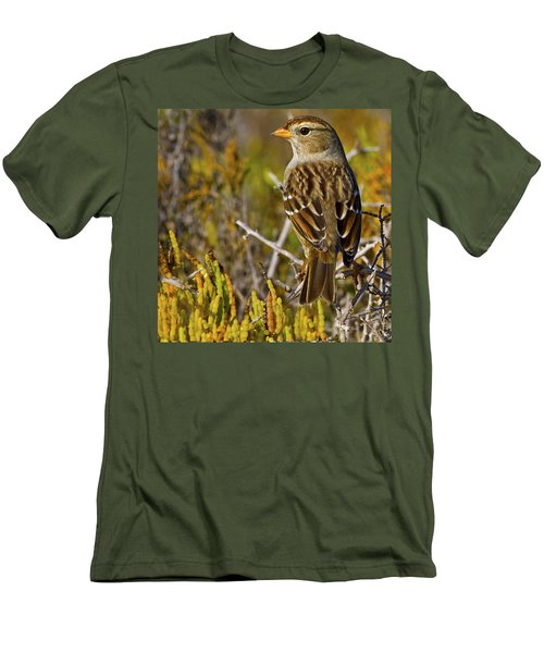 Men's T-Shirt (Slim Fit) featuring the photograph Contemplating The Day by Gary Holmes