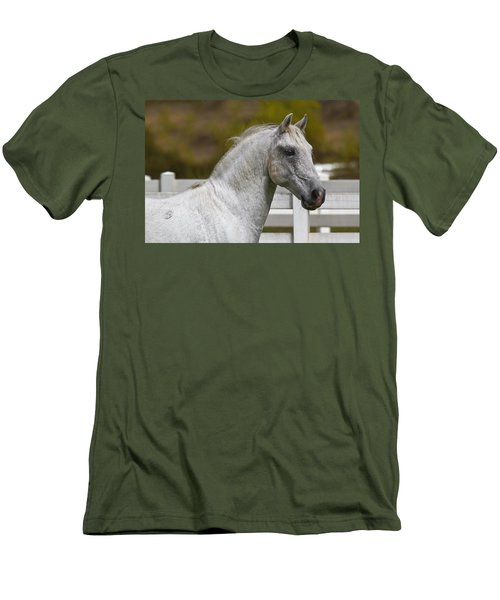 Men's T-Shirt (Slim Fit) featuring the photograph Conversano Mima D2724 by Wes and Dotty Weber